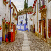 Óbidos Colorful and Winding Cobble Streets