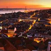 Lisbon Downtown by Night