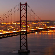 Lisbon 25th April Bridge by Night