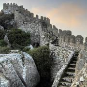 Sintra Moorish Castle and Pena Palace on back