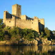 Almourol Castle Reflected on Tagus River