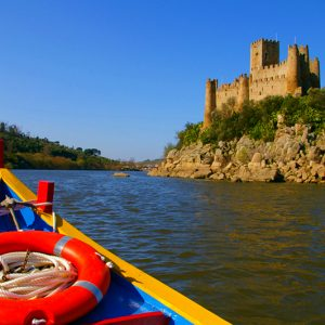 Boat Ride to Almourol Castle Island