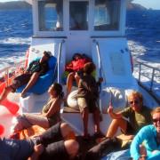Berlenga Island Boat Leaving