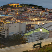 Lisbon Downtown and Castle by Night