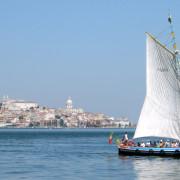 Lisbon Tagus River Sailing Boat